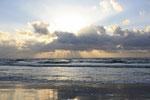 Sonnenstrahlen an der Nordseeküste / Westküste Dk