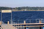 Blick vom Bootsanleger auf der Innenkippe zur Marina Mücheln - Sept. 2010