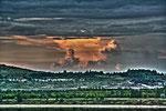 HDR Gewitterwolken