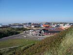 Blick zum Hafen in Hvide Sande