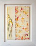Harmonie; 64 x 84 cm; Acrylmalerei auf Papier im weißlasierten Holzrahmen
