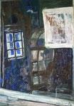 Titel: Schatten und Spiegelungen, Tempera auf Papier 70cm/1m