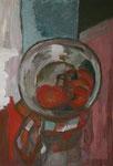 Titel: Stilleben mit Tomaten, Tempera auf Papier
