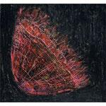 Titel: Zeichnung Blutkorb Wachsmalkreide auf Papier 20,5cm/22cm