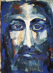 Titel: Jesus, Tempera auf Papier