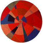 Titel: Lebensrad, Tempera auf Pappe auf Holz Durchmesser 1,21 m