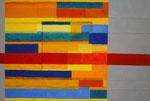 Titel: Vertiefung, Tempera auf Leinwand, Pappe und Holz (tatsächliche quadratische Vertiefung) 1,25m/87cm