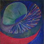 Titel: Lebendige Zelle, Tempera auf Leinwand 69cm/69cm