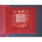 Titel: Blutbild, Tempera auf Papier auf Holz 90cm/71cm