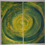 Titel: Paar, Tempera auf Leinwand auf Holzplatten