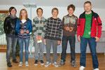 Abgänger der Pflichtschule: Ella, Philipp, Alexander und Lukas (es fehltAndrea)