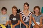 Matthias, Felix, Annalena und Lena