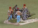 Artiglieria Confederata - Confederate artillery.