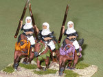 Monaci guerrieri a cavallo (Cv) - Mounted warrior monks (Cv).