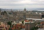 Blick auf Edinburgh von Arthur´s Seat aus.