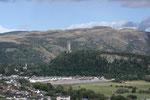 Das 67m hohe Wallace Monument bei Abbey Craig erinnert an den Sieg von William Wallace über die Engländer 1297 in Stirling Bridge, der Vorbote des Sieges von Bruce 1314 war.