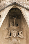 Über dem Eingang der Sagrada Família (Passionsfassade).