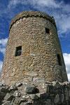 Orchardon Tower, einer der wenigen Rundtürme Schottlands aus dem 15. Jahrhundert.