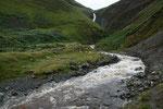 Moffat Water Valley mit Grey Mare´s Tail Wasserfall (61m hoch).