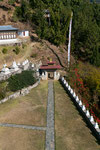 Das malerische Tor führt zum Ausgang des Tempels.