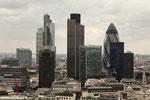 Die Wolkenkratzer von London.