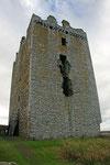 Während der Belagerung durch James II stand die Burg unter starkem Beschuß.