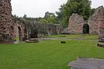 Dryburgh Abbey (Scottish Borders), hier liegt Sir Walter Scott begraben.