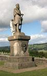 Statue von Robert de Bruce nach der Schlacht von Bannock burn 1314 (Stirling).