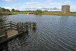 Threave Castle liegt malerisch am Fluss Dee. Wer hinüber möchte muss vom Fährmann übergesetzt werden.