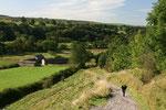 Wir verließen das Tal und den Hadrianswall, um auf dem Hügel die Überreste eines Kastells zu bestaunen.