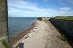 Strandabschnitt am Fort George.