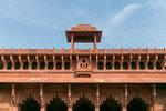 Außenfassade des Jahangir Mahal