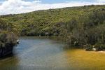 Ein Seitenarm der Lagune bei Wattmolla