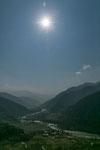 Blick auf das obere Punakha Tal.