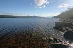 Am Ufer des Loch Ness machen wir eine kurze Pause. Nessi lässt sich leider nciht blicken.