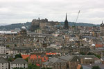 Blick von Arthur´s Seat auf Edinburgh Castle (Edinburgh).