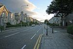 Blick auf die Straßen Aberdeens von unserem B&B aus.