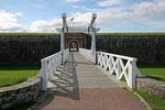 Fort George nahe Inverness. Heute können wir das Fort ausgiebig erkunden.