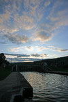 Das Schleusensystem des Caledonian Canal in Fort Augustus.