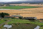 Landschaft im Grenzland, den Scottish Borders.