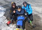 Der Skilehrer, ich , mein Vater