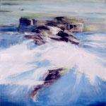 """Clotide CERISIER   """"Effet d'eau""""   huile/toile    100x100"""