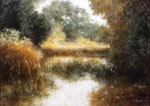"""Autumn Pond"" 24x36 $1250 oil on canvas"