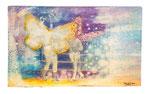 Herr Butterfliege. Acryl und Tinte auf Holz. 20x30cm. 2015