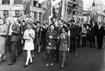 Первомайская демонстрация на Каляевской ул. 1970-е г.г.