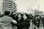 Первомайская демонстрация. 1970-е - начало 1980-х г.г. Вид со стороны ул. Чехова (М.Дмитровки)