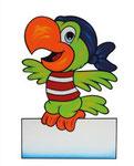 Geburtstafel Papagei