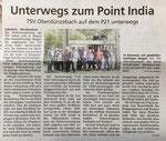 Bericht in der Werra-Rundschau über die Wanderung auf dem P21 Point India.