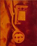 ENCHUFE óleo lienzo 40 x 50 cms