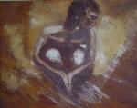 Pensamientos óleo lienzo 50 x 40 cms